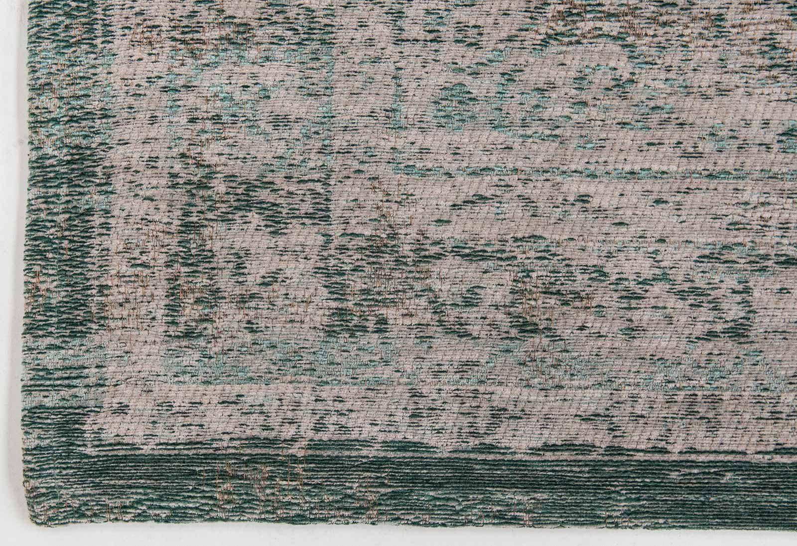vloerkleed Louis De Poortere CS 8259 Fading World Medaillon Jade Oyster corner