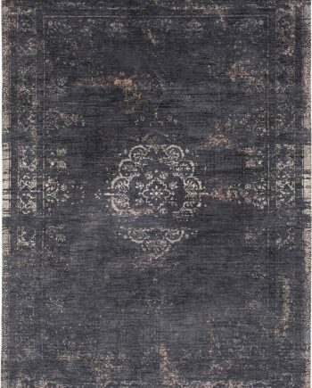 vloerkleed Louis De Poortere CS 8263 Fading World Medaillon Mineral Black