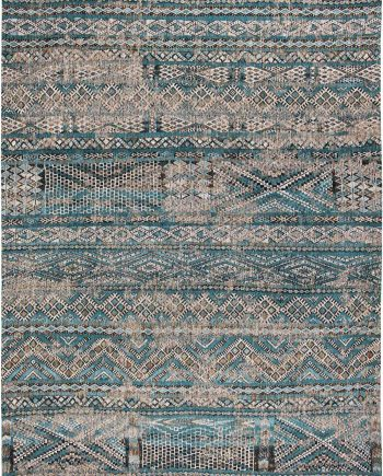 Louis De Poortere vloerkleed CS 9110 Antiquarian Kilim Zemmuri Blue