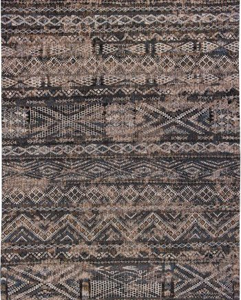 Louis De Poortere vloerkleed CS 9113 Antiquarian Kilim Black Rabat