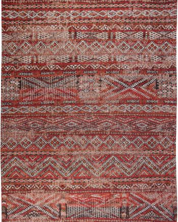 Louis De Poortere vloerkleed CS 9115 Antiquarian Kilim Fez Red