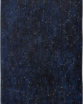 Louis De Poortere vloerkleed Fischbacher 9060 Celestial Midnight Blue