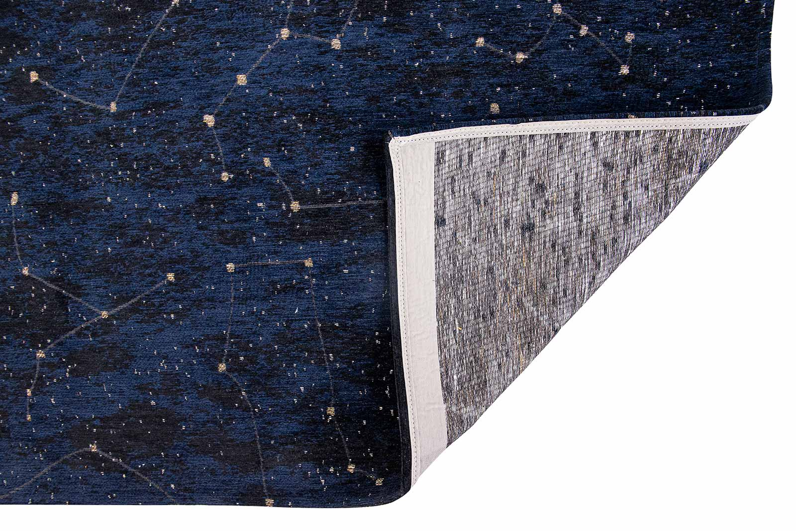 Louis De Poortere vloerkleed Fischbacher 9060 Celestial Midnight Blue back