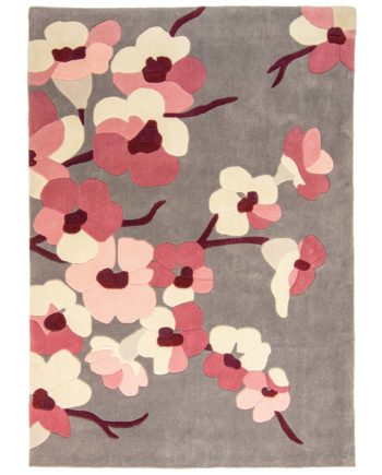 Andessi Vloerkleden Bloom Charcoal Pink Circle 1