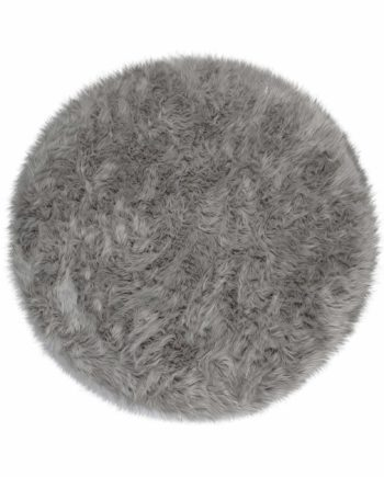 Andessi Vloerkleden Faux Fur Sheepskin Circle Grey 1